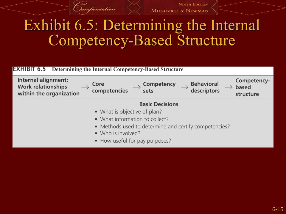 Exhibit 6.5: Determining the Internal Competency-Based Structure
