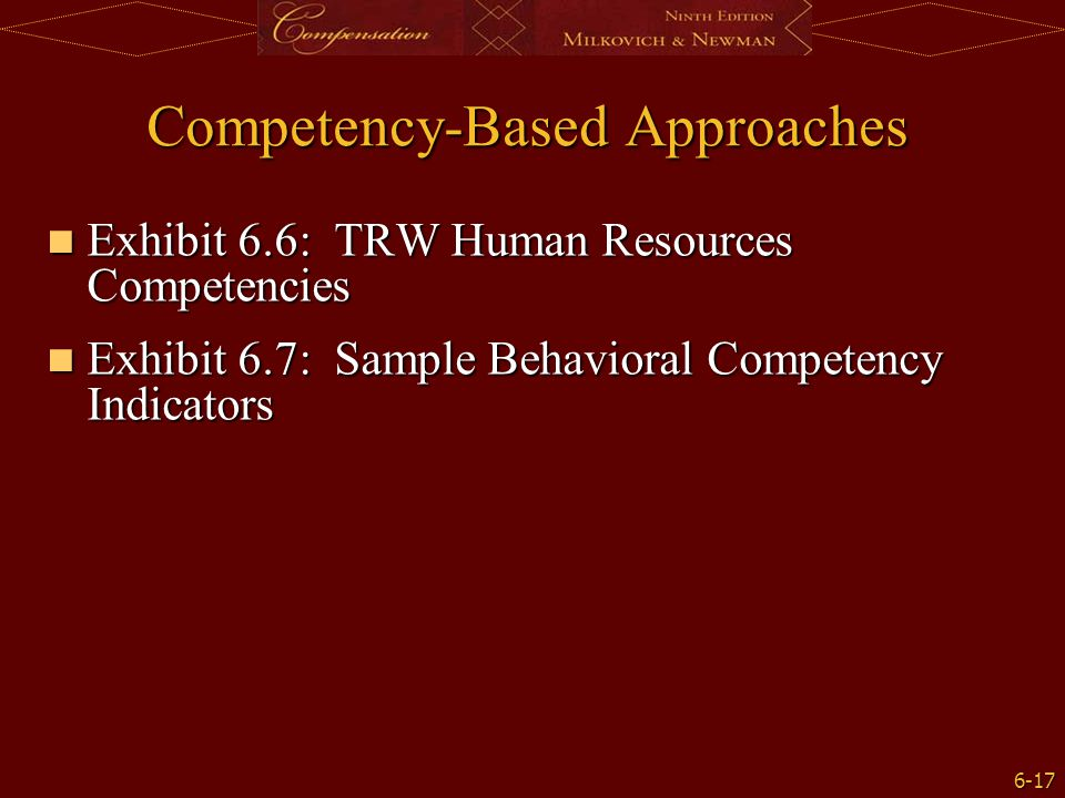 Competency-Based Approaches