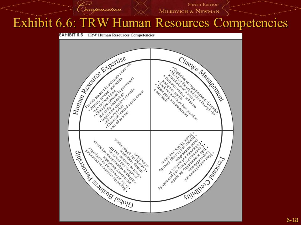 Exhibit 6.6: TRW Human Resources Competencies