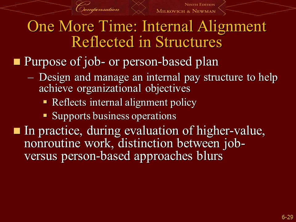 One More Time: Internal Alignment Reflected in Structures