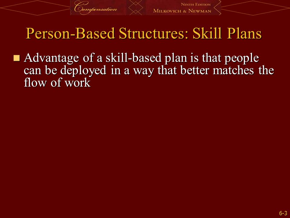 Person-Based Structures: Skill Plans