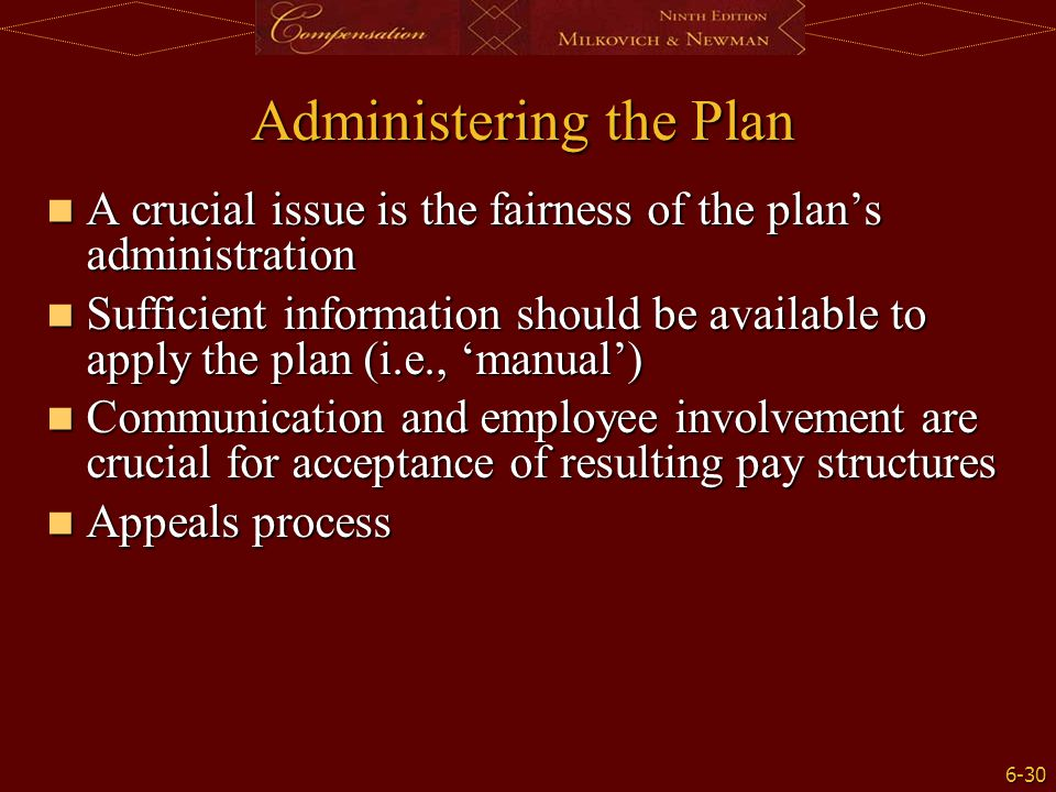 Administering the Plan