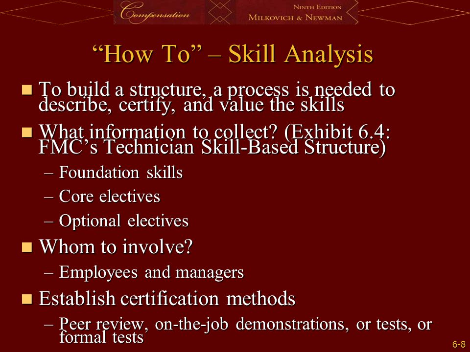 How To – Skill Analysis
