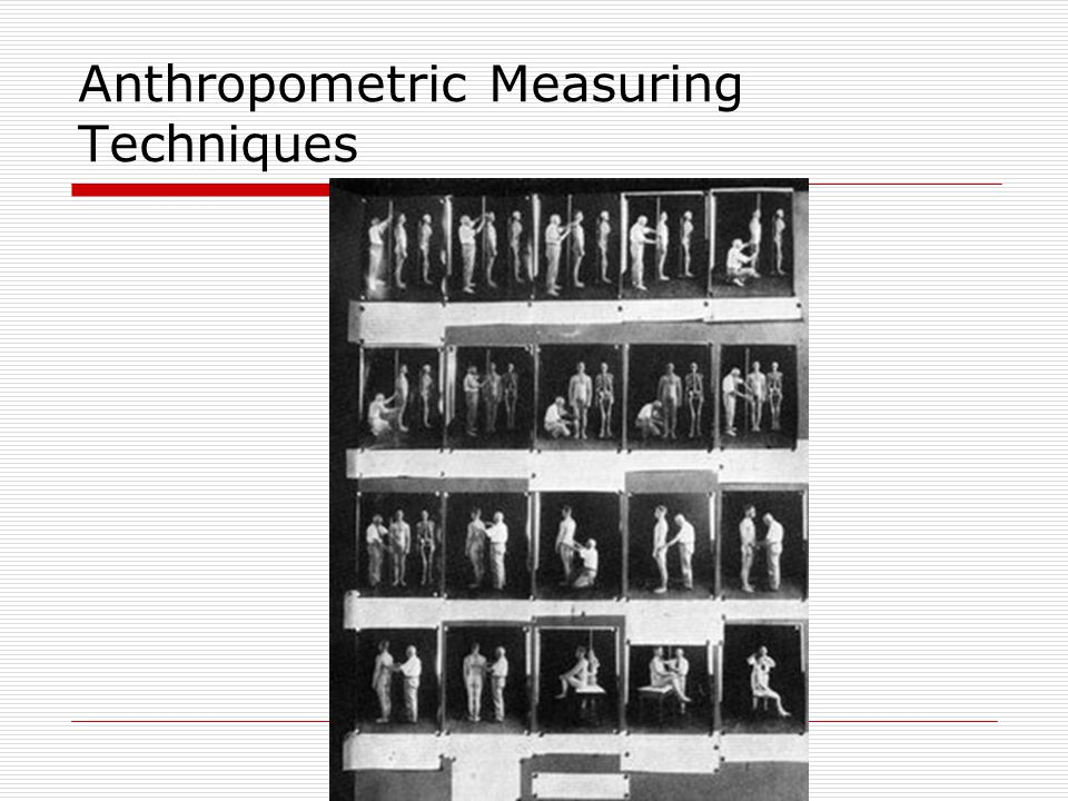 Anthropometric Measuring Techniques