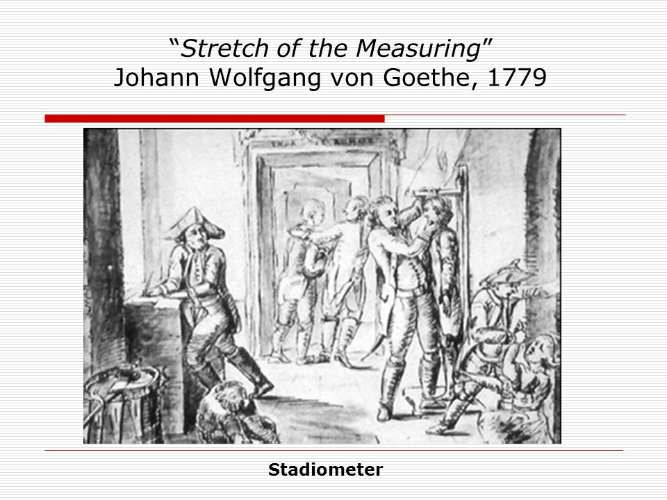 Stretch of the Measuring Johann Wolfgang von Goethe, 1779