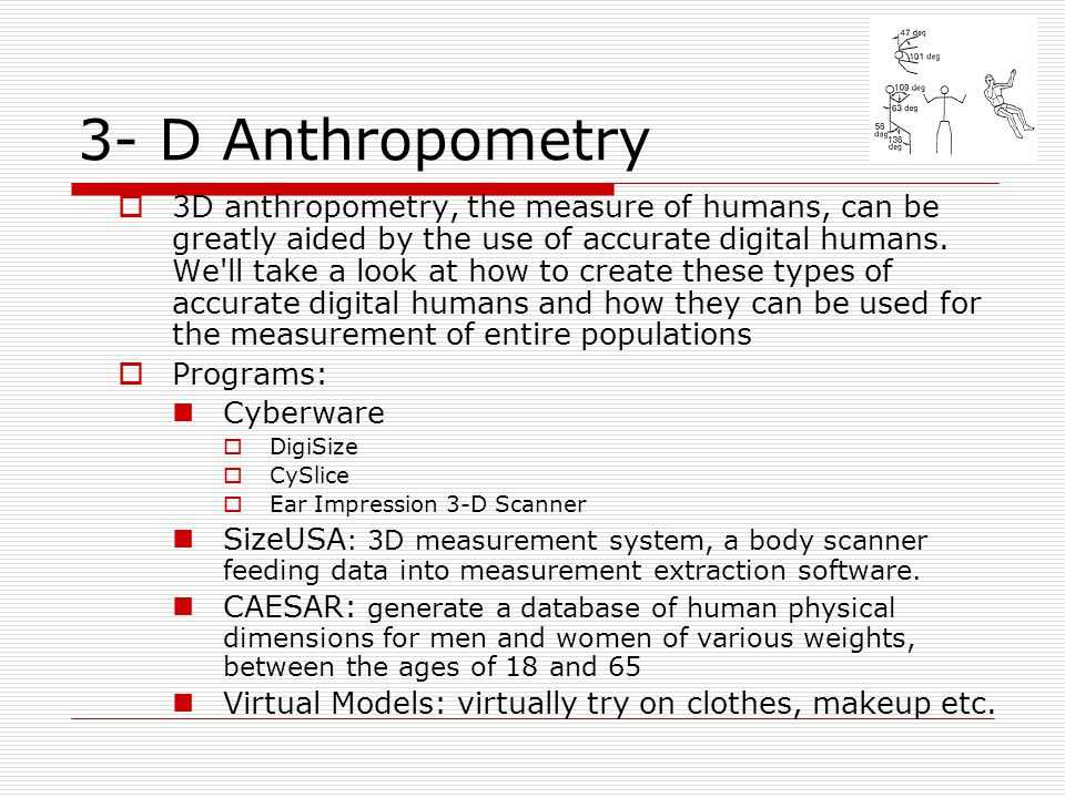 3- D Anthropometry