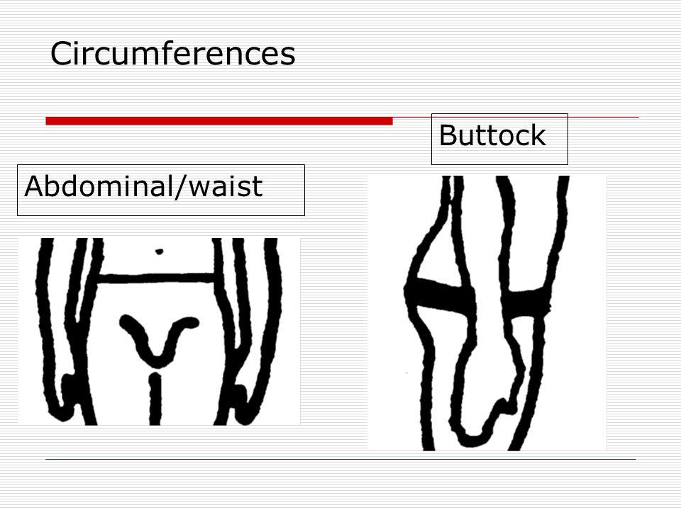 Circumferences Buttock Abdominal/waist
