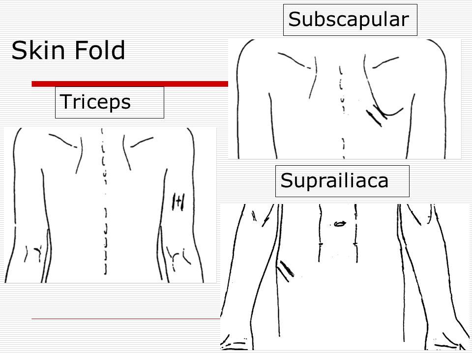 Skin Fold Subscapular Triceps Suprailiaca