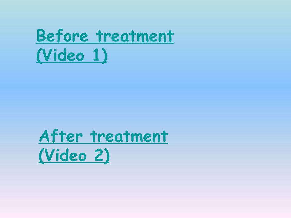 Before treatment (Video 1)