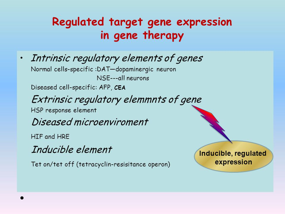 Regulated target gene expression in gene therapy