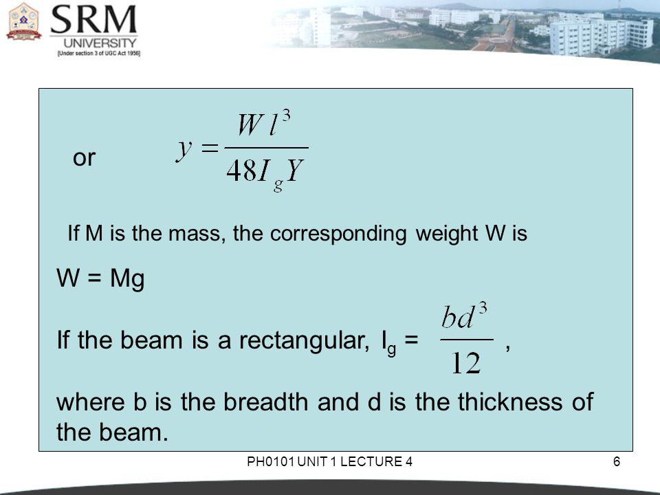 If the beam is a rectangular, Ig = ,