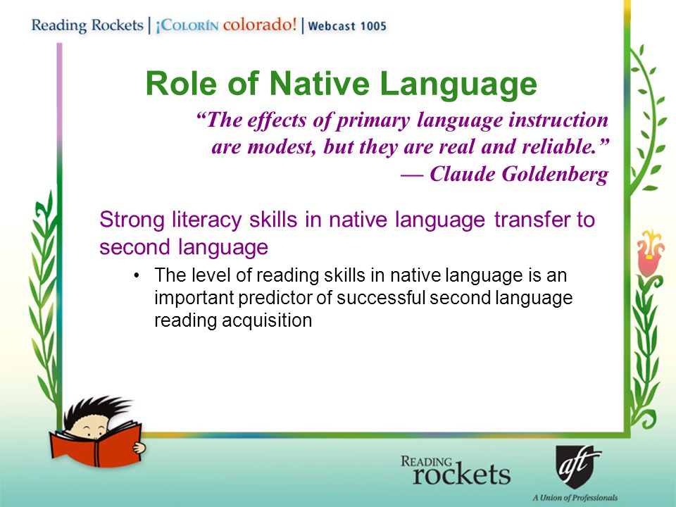 Role of Native Language
