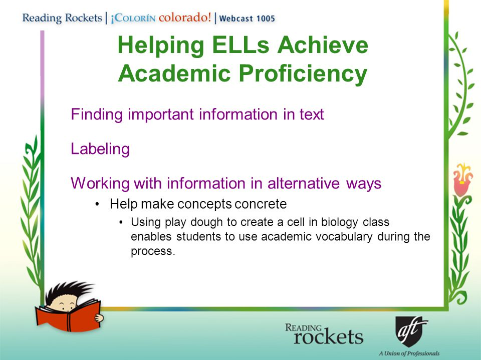 Helping ELLs Achieve Academic Proficiency