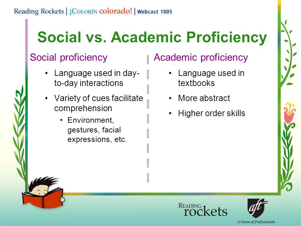 Social vs. Academic Proficiency