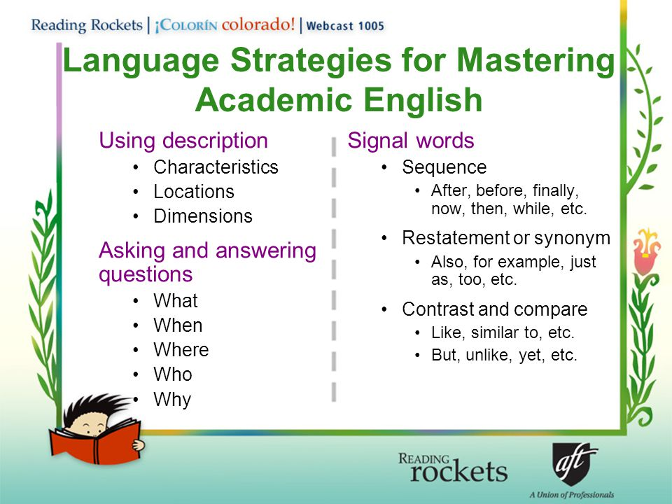 Language Strategies for Mastering Academic English