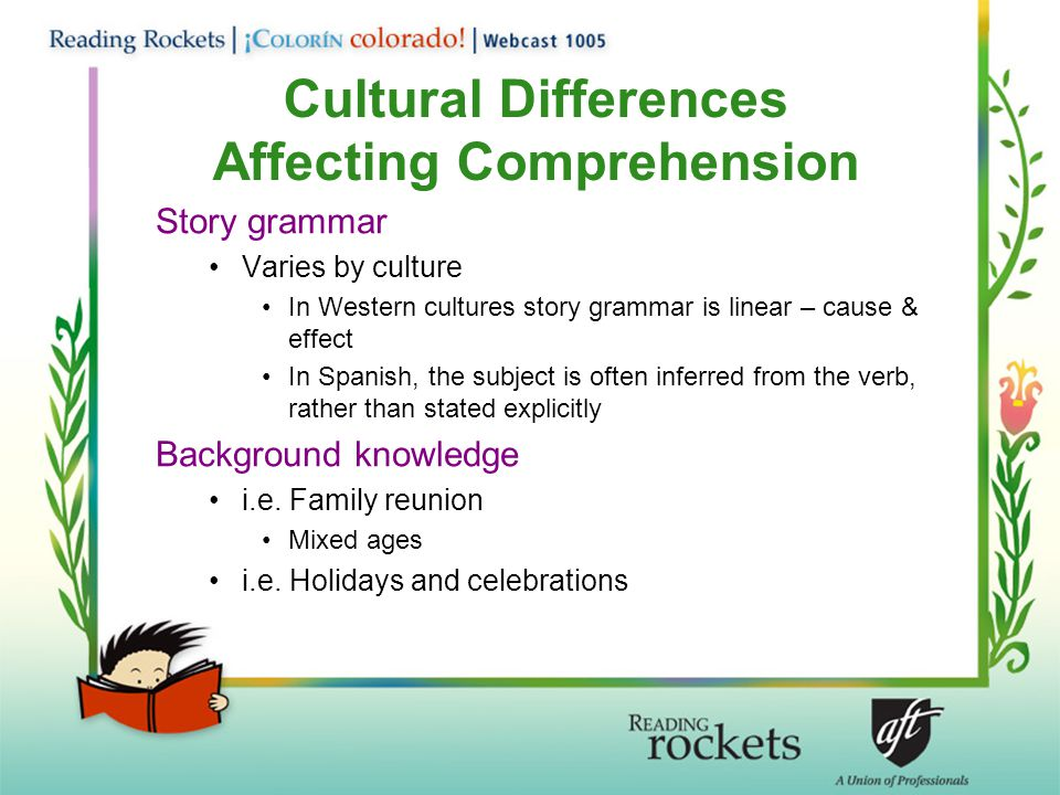 Cultural Differences Affecting Comprehension