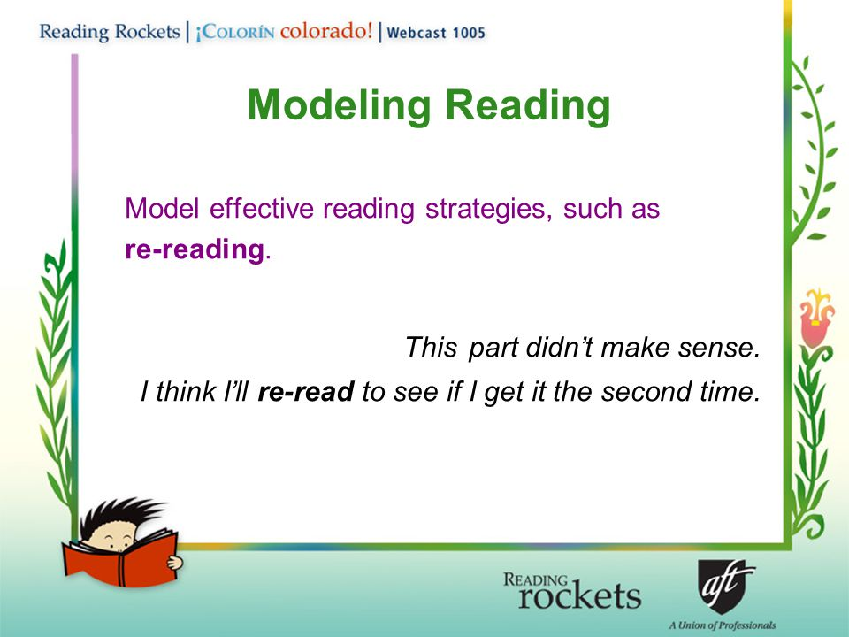 Modeling Reading This part didn't make sense.