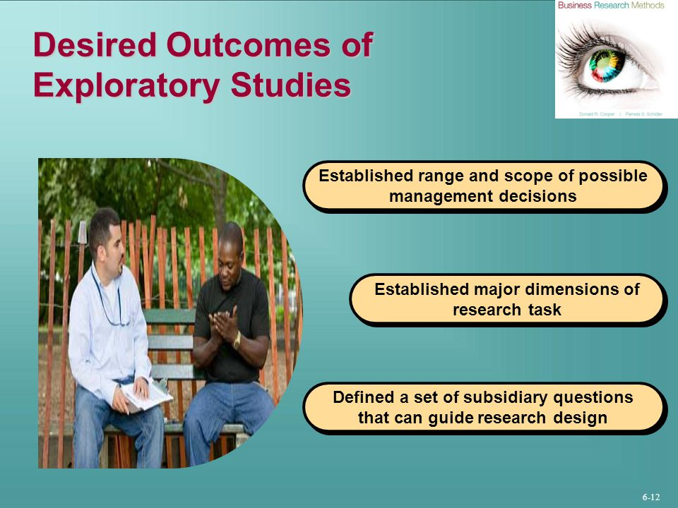 Desired Outcomes of Exploratory Studies