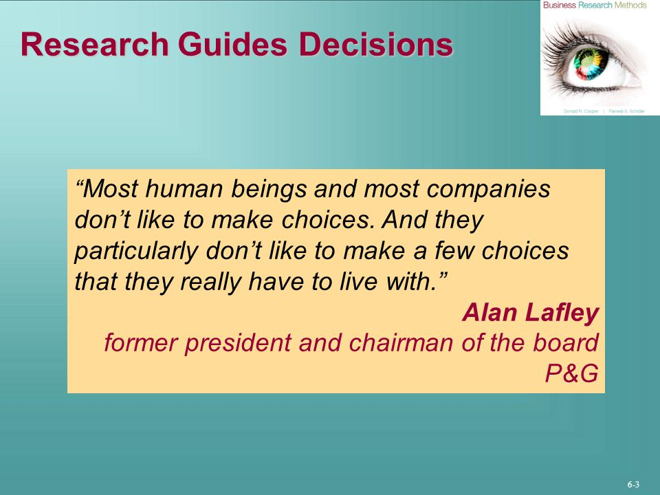 Research Guides Decisions