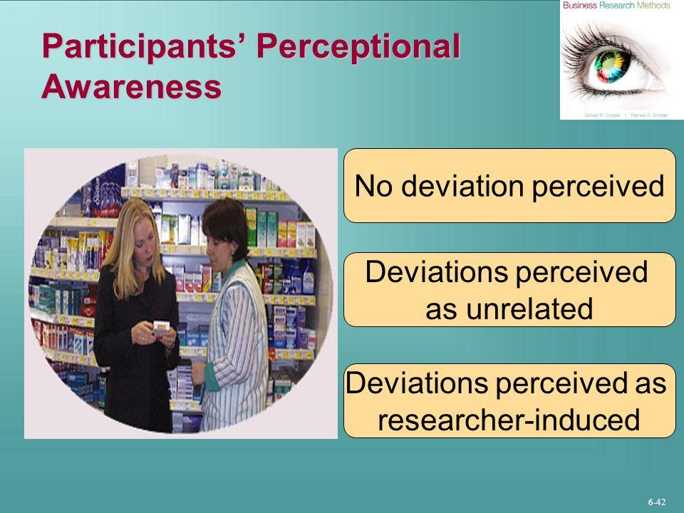 Participants' Perceptional Awareness