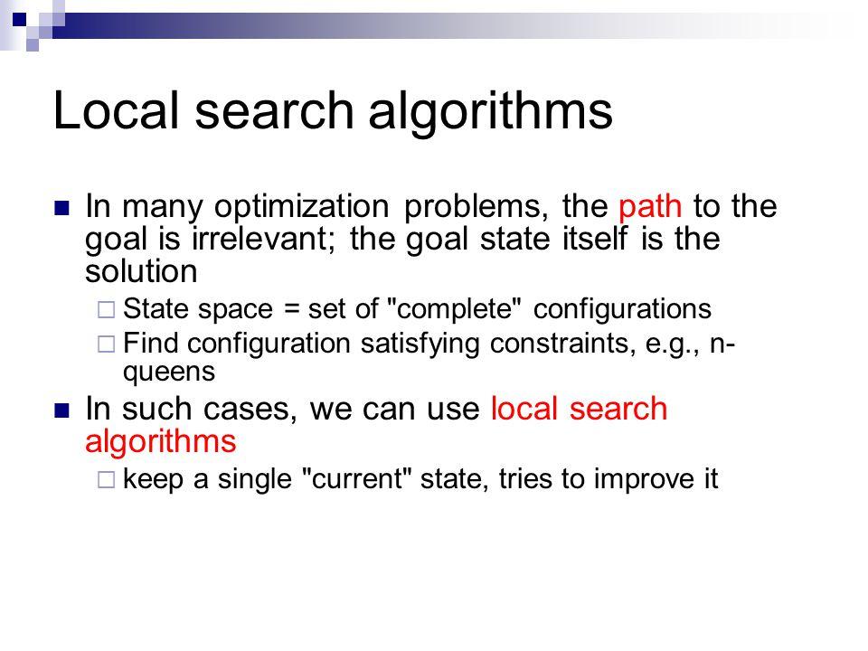 Local search algorithms