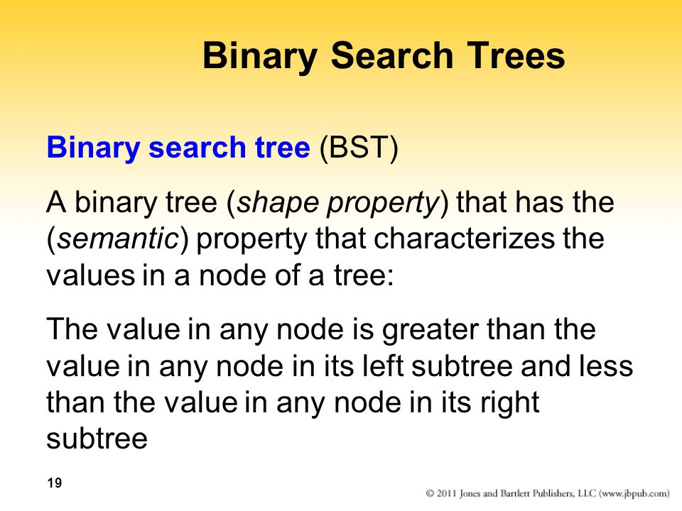 Binary Search Trees Binary search tree (BST)