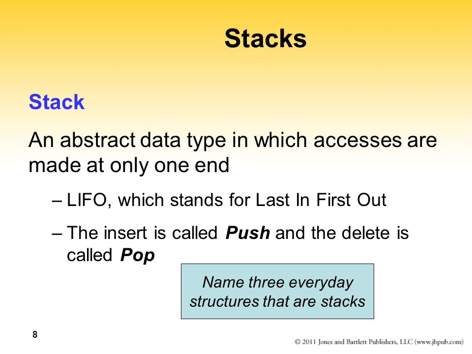 structures that are stacks