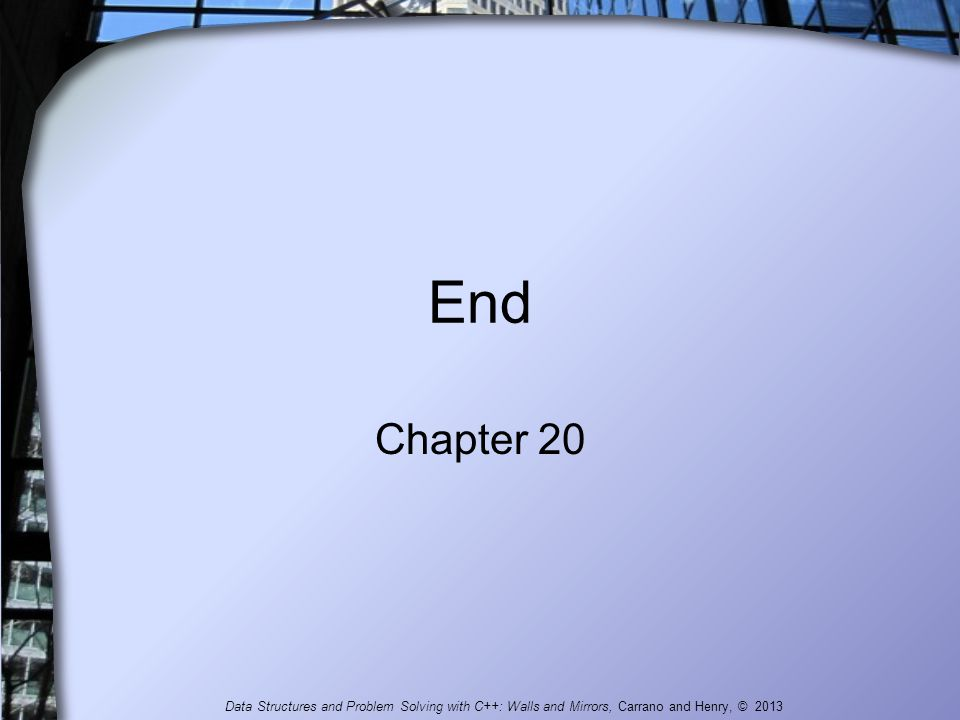 End Chapter 20.