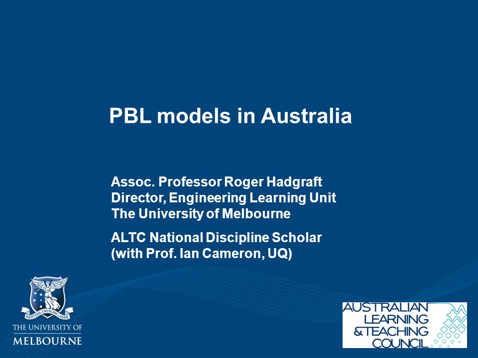 PBL models in Australia
