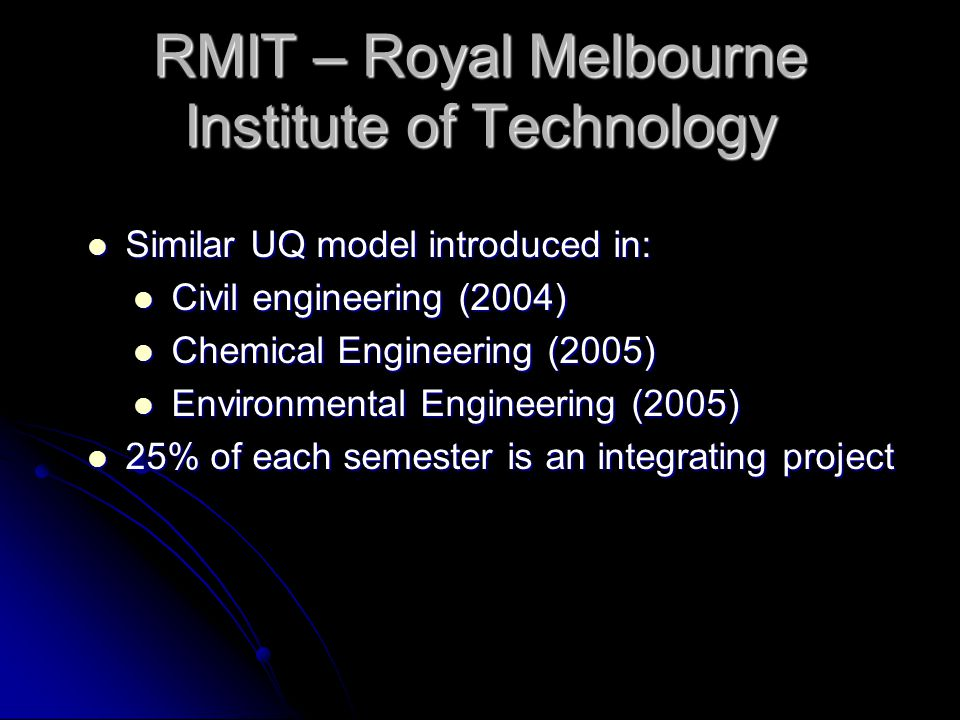RMIT – Royal Melbourne Institute of Technology