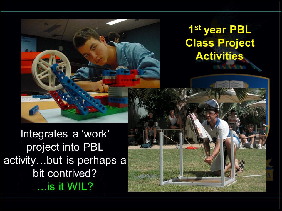 1st year PBL Class Project Activities