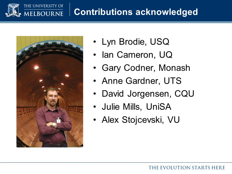 Contributions acknowledged