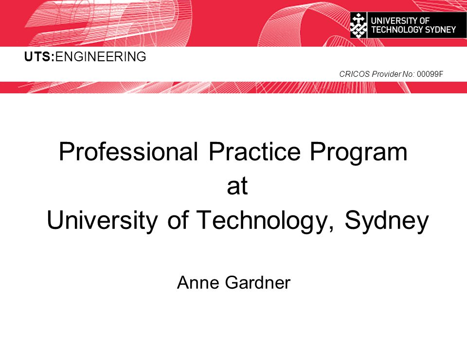 Professional Practice Program at University of Technology, Sydney