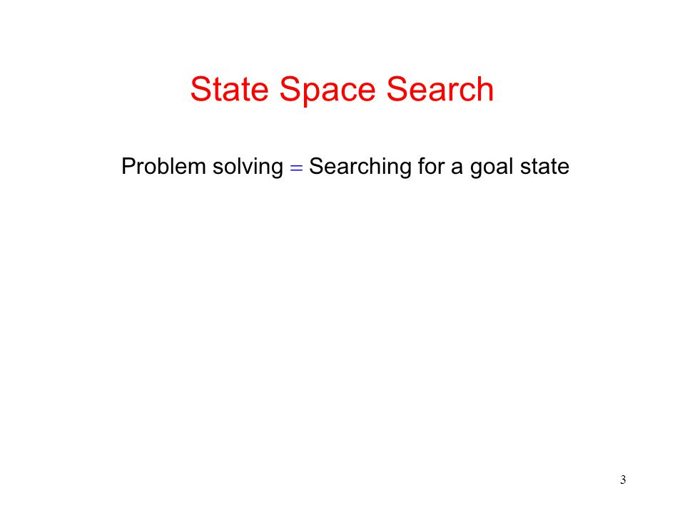 Problem solving = Searching for a goal state