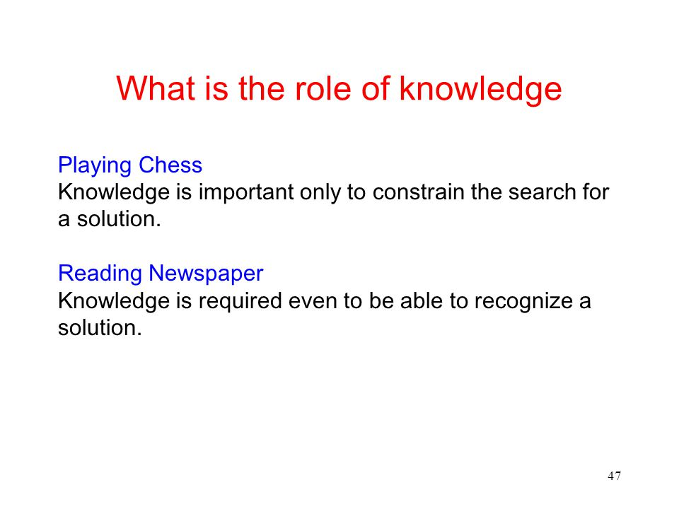 What is the role of knowledge
