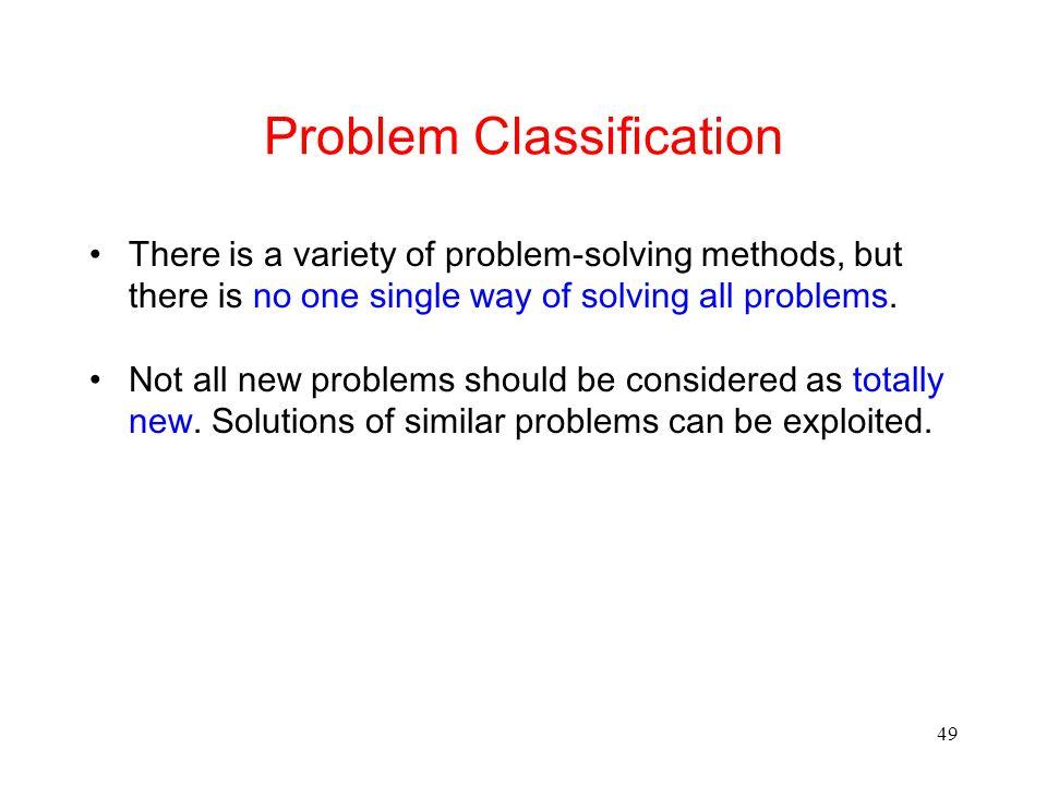 Problem Classification