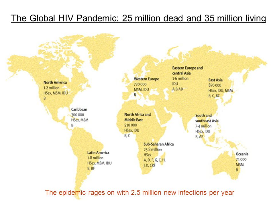 The Global HIV Pandemic: 25 million dead and 35 million living