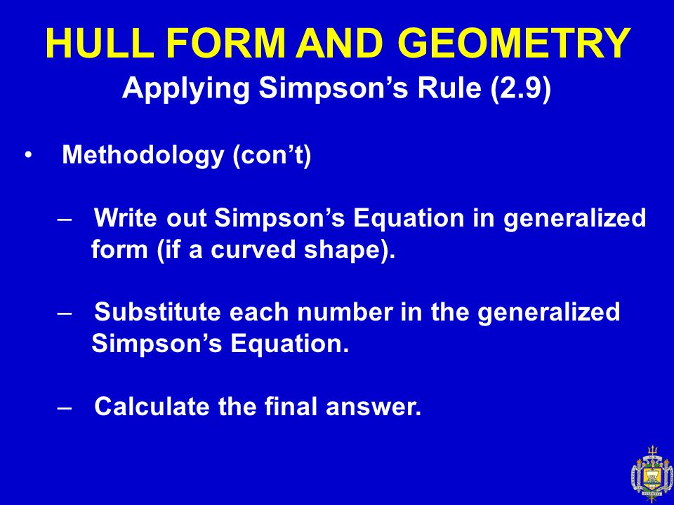 Applying Simpson's Rule (2.9)