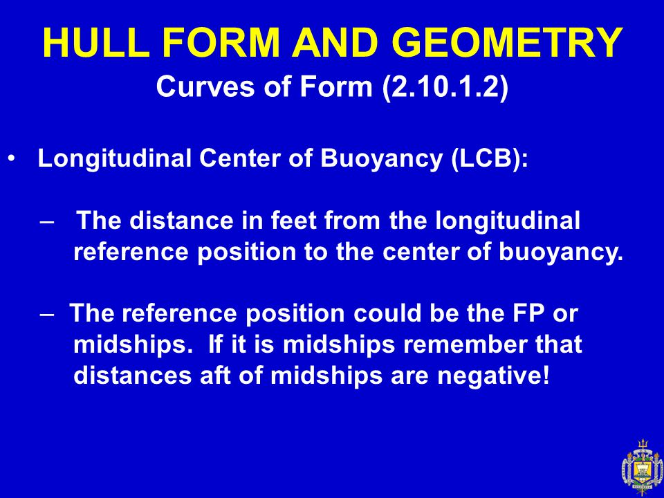 HULL FORM AND GEOMETRY Curves of Form (2.10.1.2)