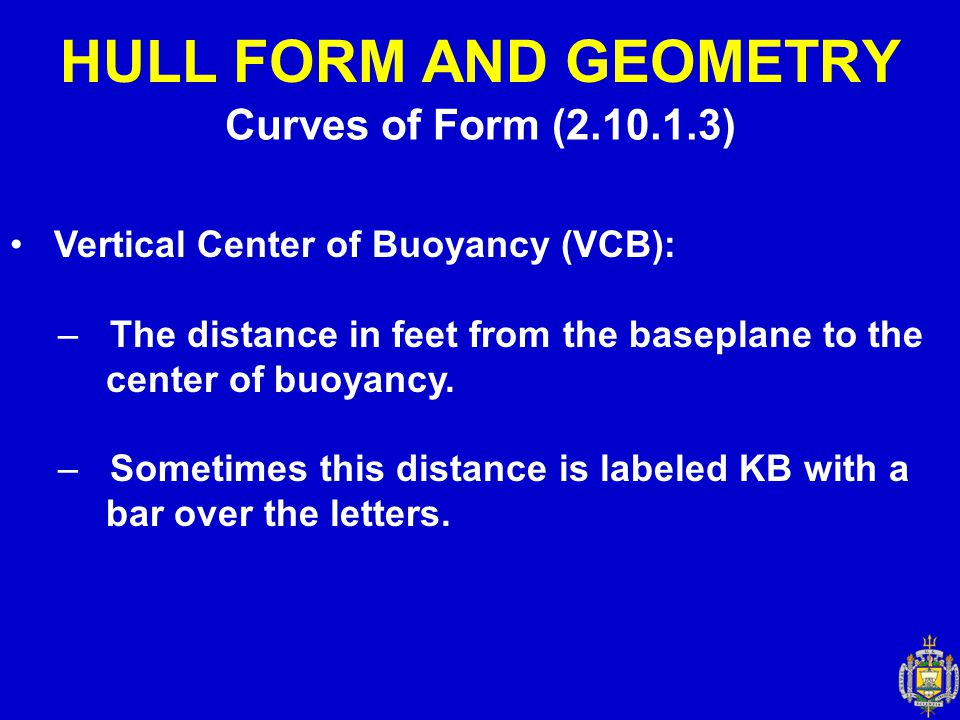 HULL FORM AND GEOMETRY Curves of Form (2.10.1.3)