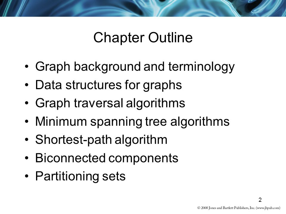 Chapter Outline Graph background and terminology