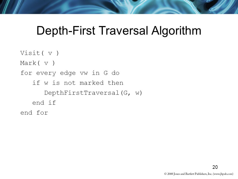 Depth-First Traversal Algorithm