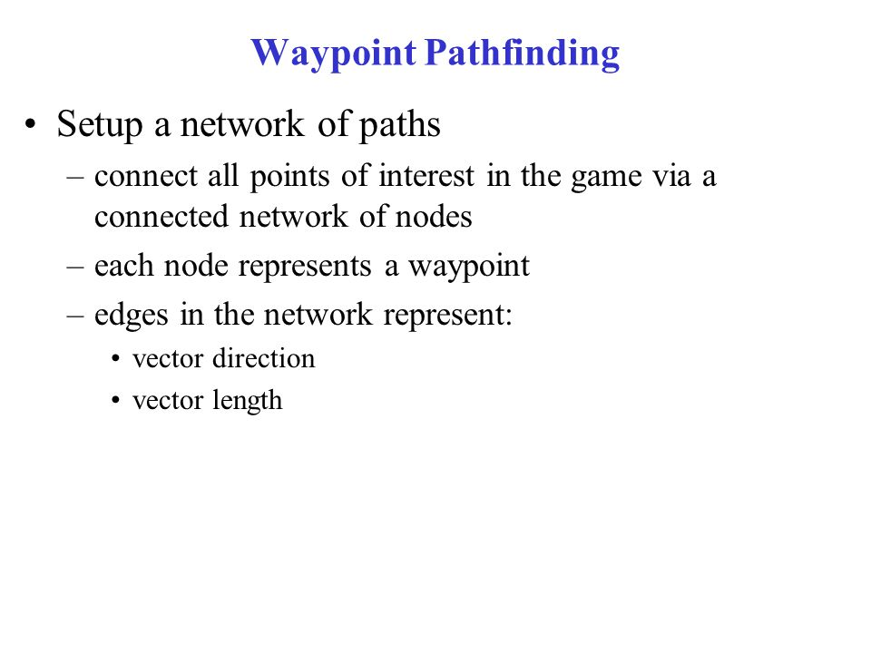 Setup a network of paths
