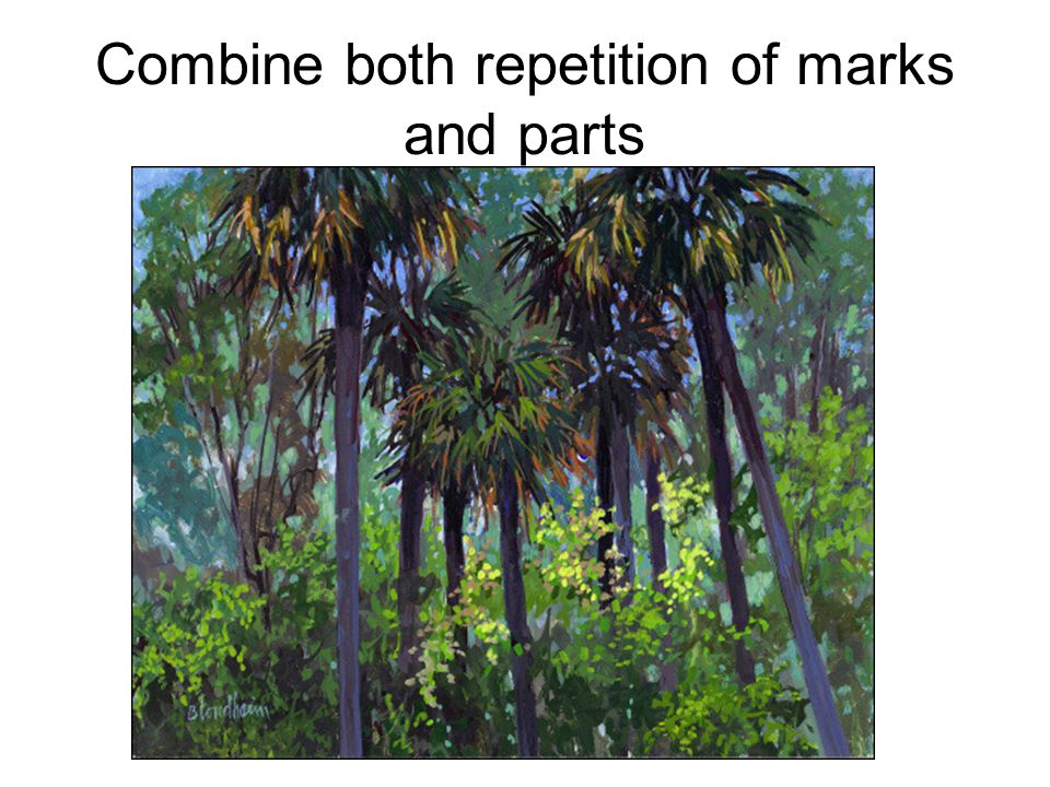 Combine both repetition of marks and parts