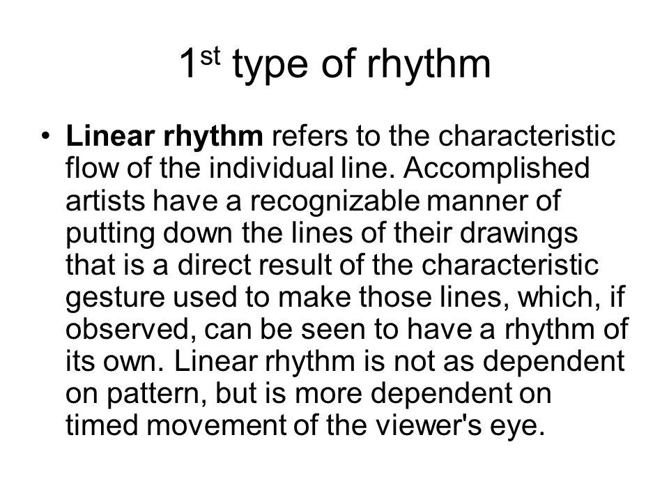 1st type of rhythm