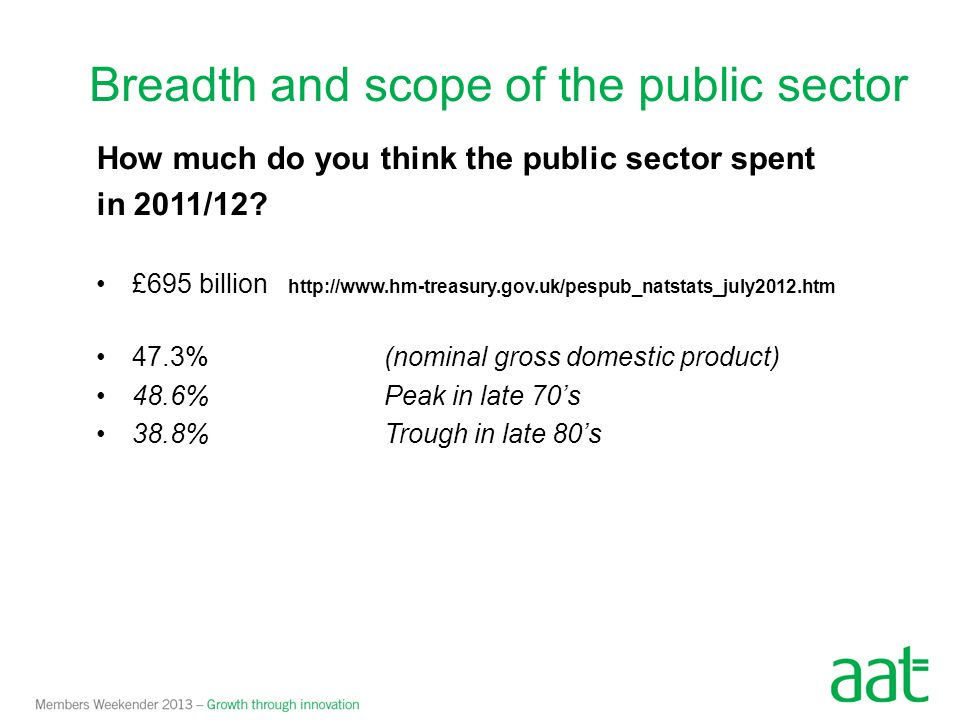 Breadth and scope of the public sector
