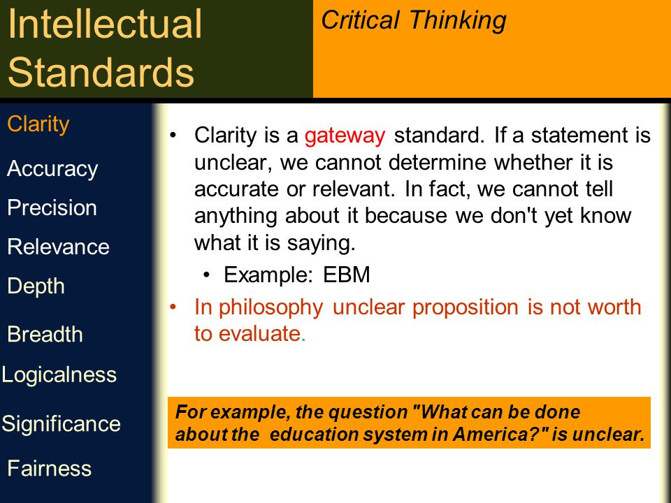 In philosophy unclear proposition is not worth to evaluate. Accuracy