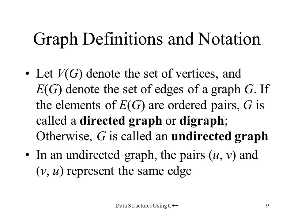 Graph Definitions and Notation