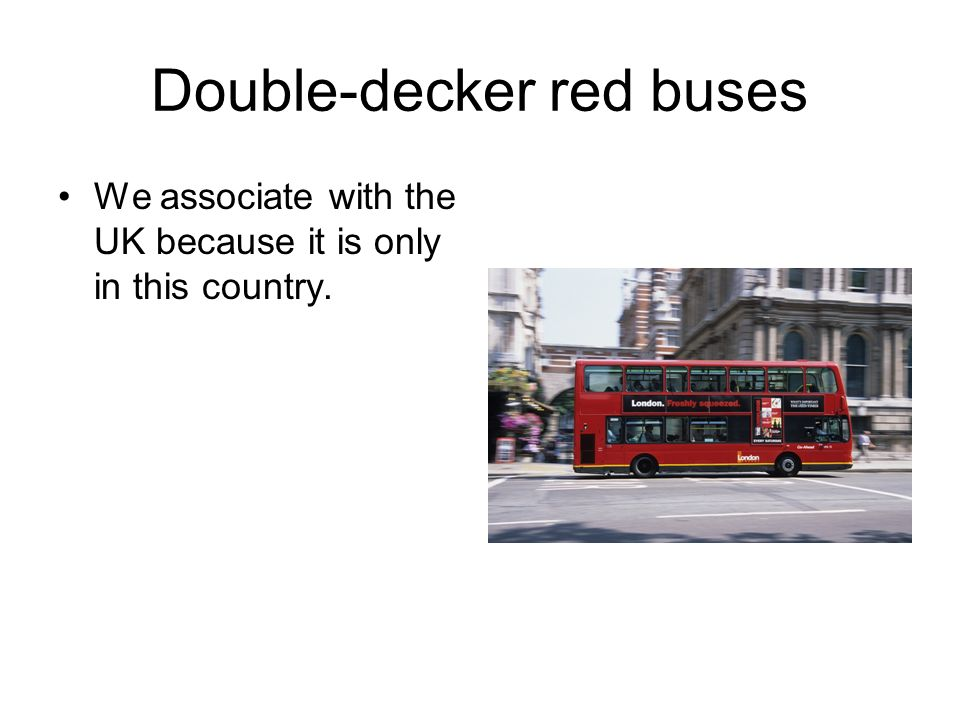 Double-decker red buses