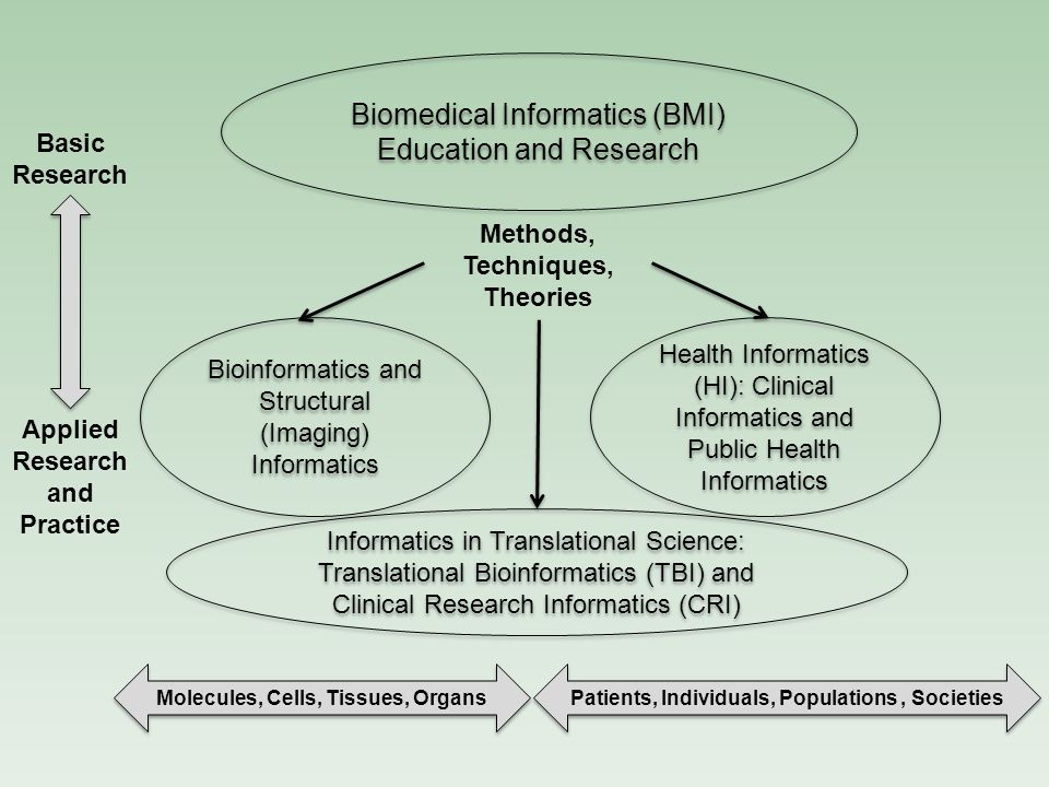 Biomedical Informatics (BMI) Education and Research